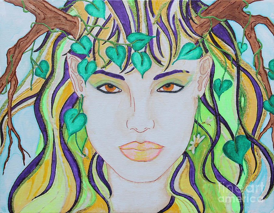 Spring Painting - Wyld Spring Spirit by Luanna Swaney
