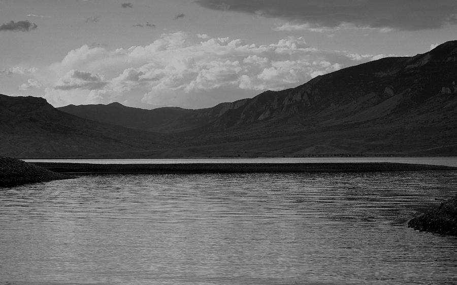 Wyoming Sunset In Black And White Photograph