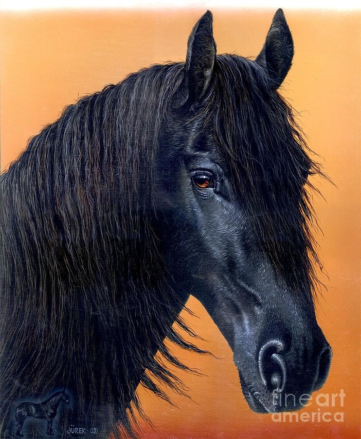 Horse Painting - Wytse by Jurek Zamoyski