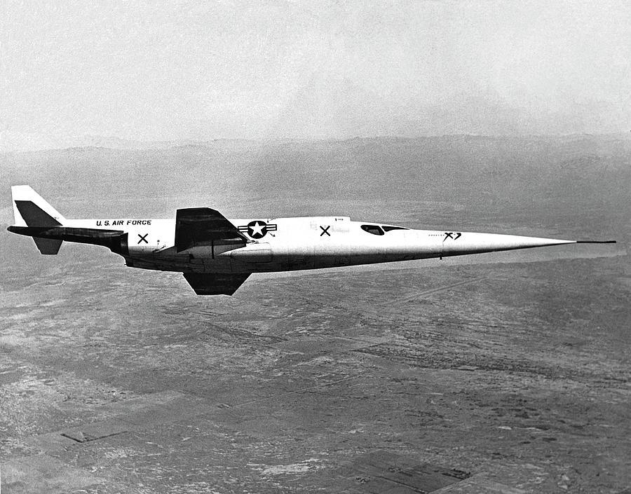 Nobody Photograph - X-3 Stiletto Experimental Aircraft by Nasa Photo / Naca/nasa