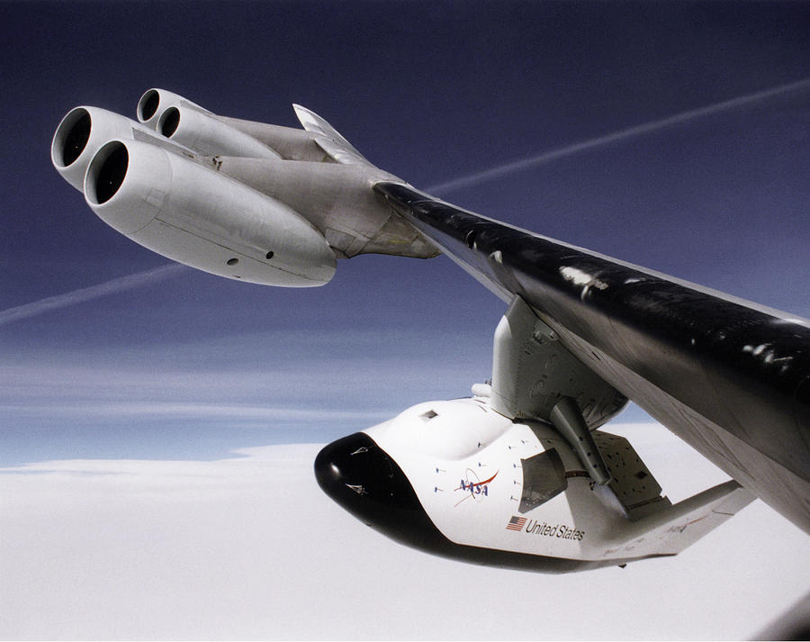 X-38 Photograph - X-38 Spacecraft On B-52 Wing by Nasa