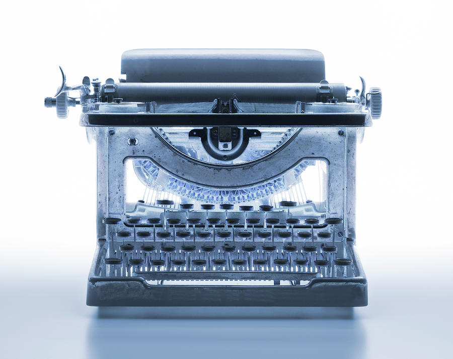 X-ray Of A Typewriter Photograph by Don Farrall