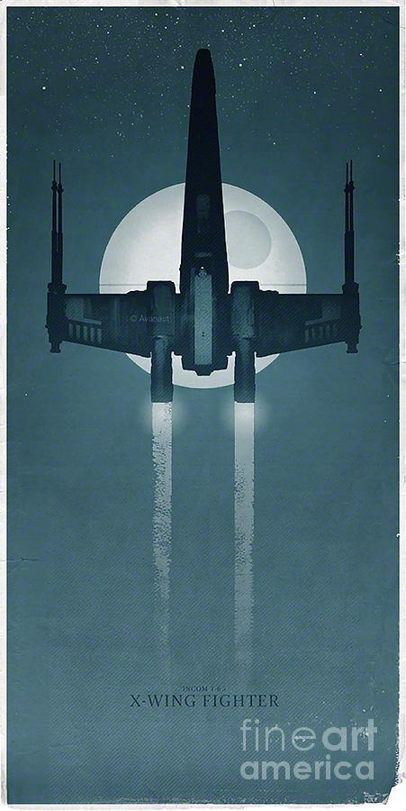 Star Wars Digital Art - X Wing Fighter by Baltzgar