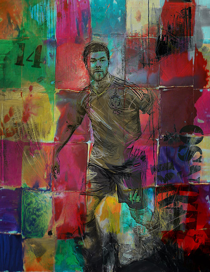 Xabi Alonso Painting - Xabi Alonso - C by Corporate Art Task Force