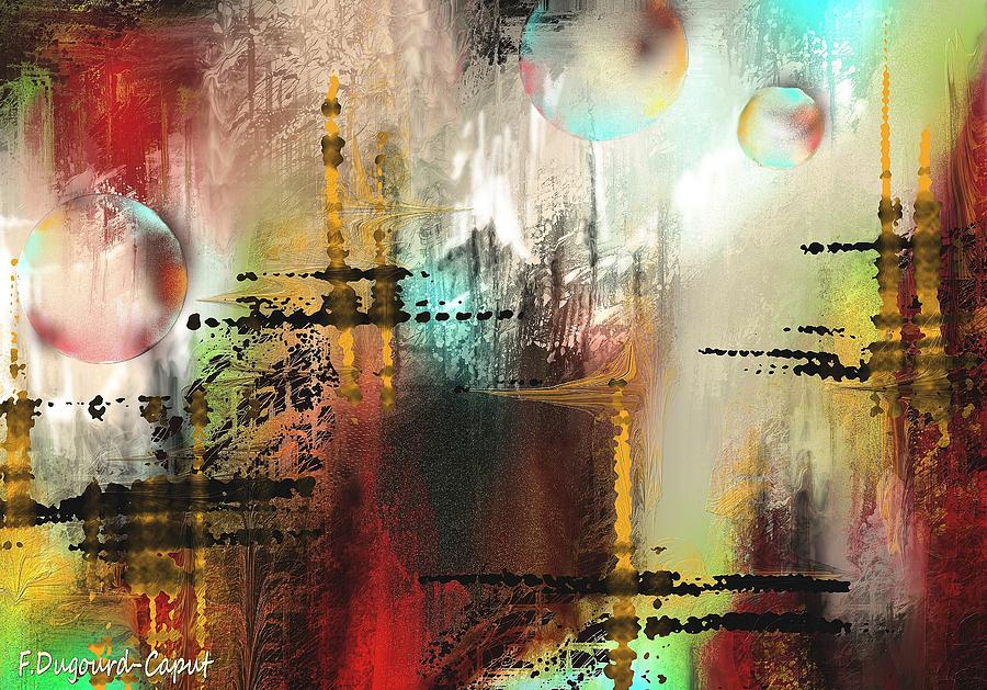 Abstract Painting - Xanadoo by Francoise Dugourd-Caput