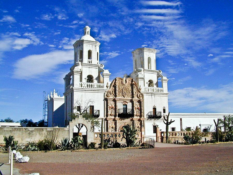 Mission San Xavier Del Bac Photograph - Xavier Tucson Arizona by Douglas Barnett