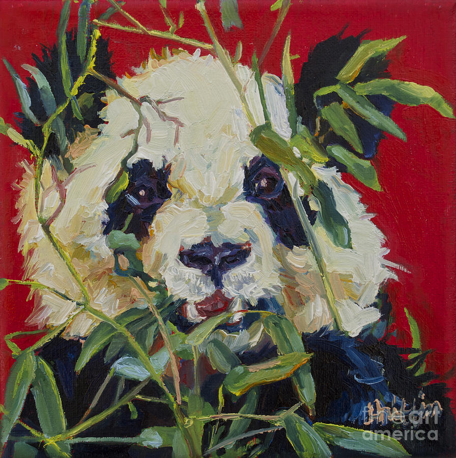 Panda Painting - Xi Lan by Patricia A Griffin