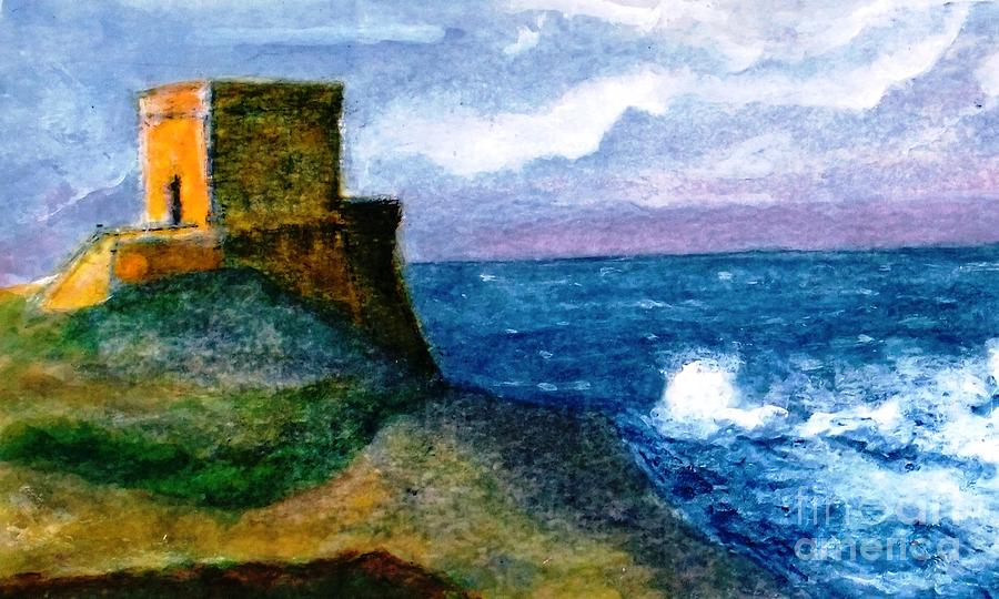 Xlendi Tower - Gozo Painting by Marco Macelli