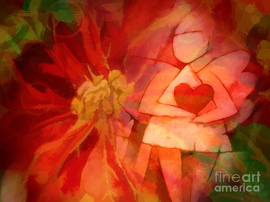 Xmas Painting - Xmas Angel by Lutz Baar
