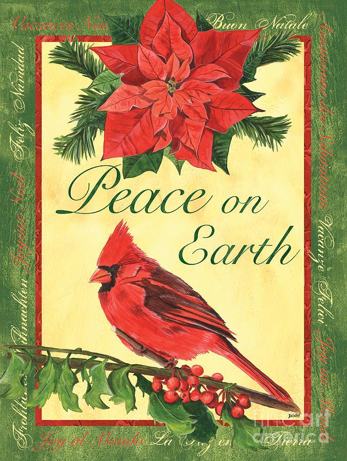 Cardinal Painting - Xmas Around The World 1 by Debbie DeWitt