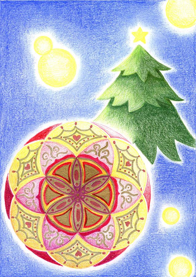 Christmas Ornament Drawing - Xmas Ornament by Keiko Katsuta