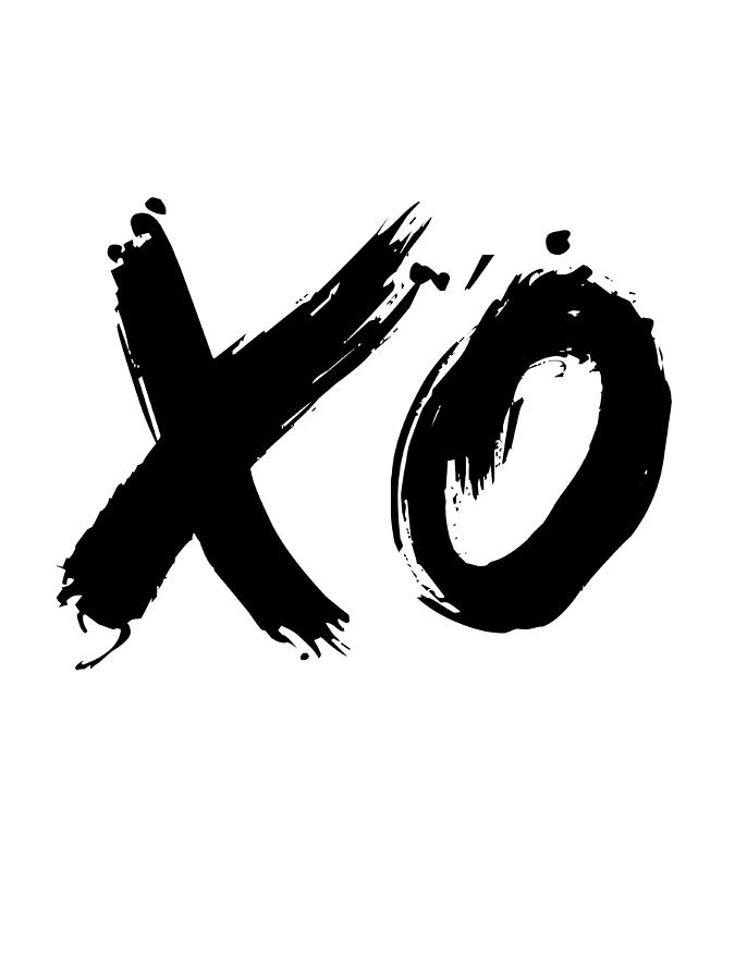 Motivational Digital Art - Xo Poster White by Naxart Studio