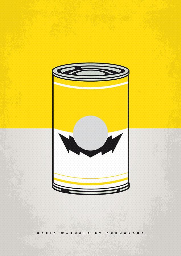 Warhol Digital Art - Y Mario Warhols Minimal Can Poster-wario by Chungkong Art