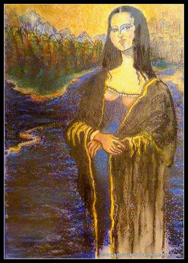 Woman Painting - Ya Think Mr. Akins by Satya Winkelman