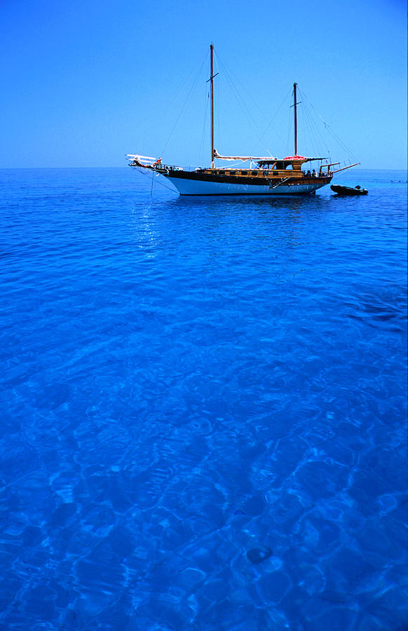 Yacht Anchored In The Spectacular Photograph by Dallas Stribley