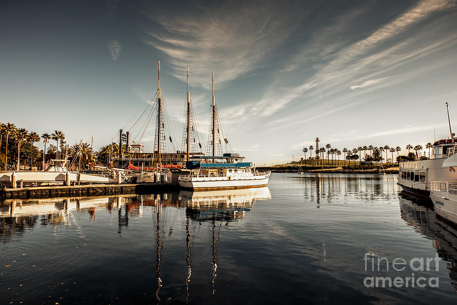 America Photograph - Yacht At The Pier On A Sunny Day by Sviatlana Kandybovich