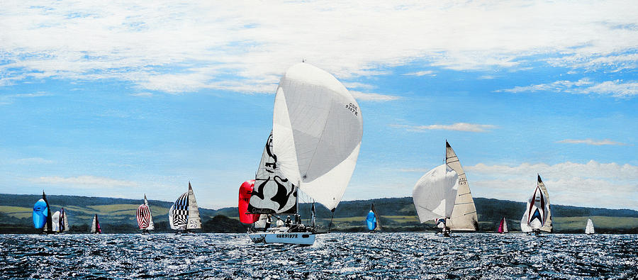 Yacht Racing During Cowes Week by Mark Woollacott