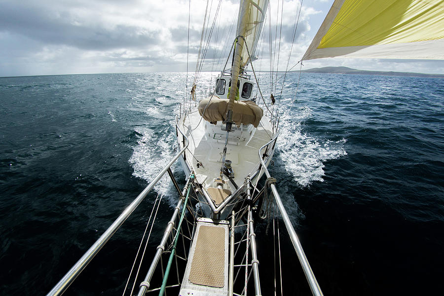 Yacht Sailing On The Southern Ocean Photograph by John White Photos