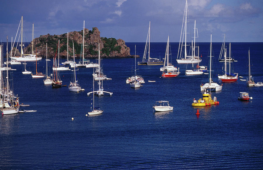 Yachts & Yellow Submarine  Moored On Photograph by Richard Ianson