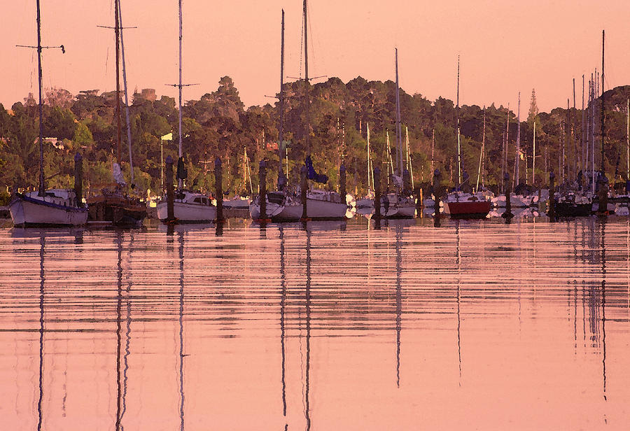 Yacht Photograph - Yachts At Dawn by Gordon  Grimwade
