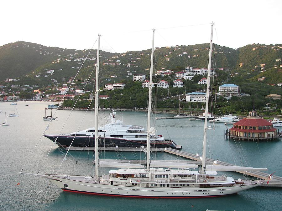 Yacht Photograph - Yachts In St. Thomas by Steven Parker