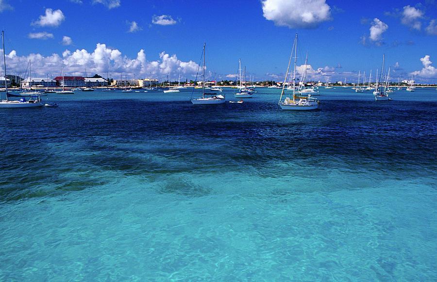 Yachts Moored On Marigot Bay Photograph by Richard Ianson