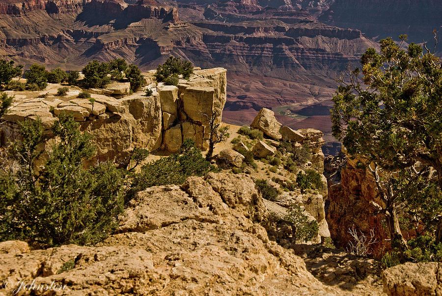 Abstract Photograph - Yaki Point 3 The Grand Canyon by Bob and Nadine Johnston