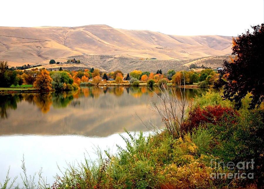 Prosser Photograph - Yakima River Autumn by Carol Groenen