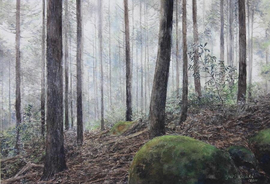Kumano Kodo Painting - Yakiyama Trail 3 by Yuri Ozaki