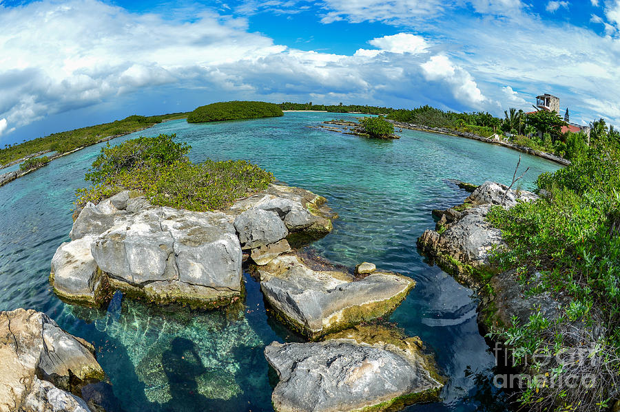 Lagoons Photograph - Yal Ku  by Salvador Penaloza