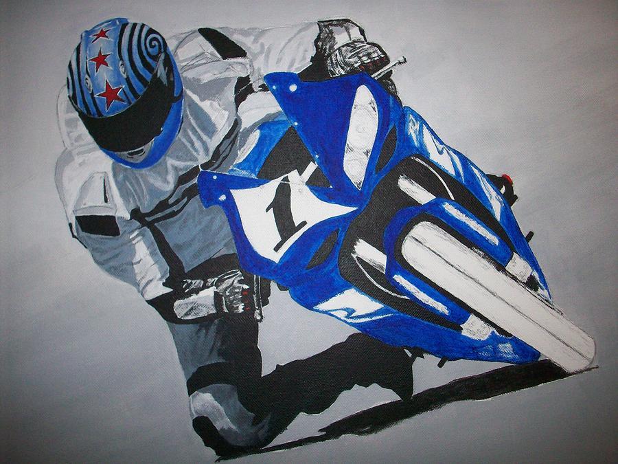 Sportbike Painting - Yamaha R1  by Joseph Luna