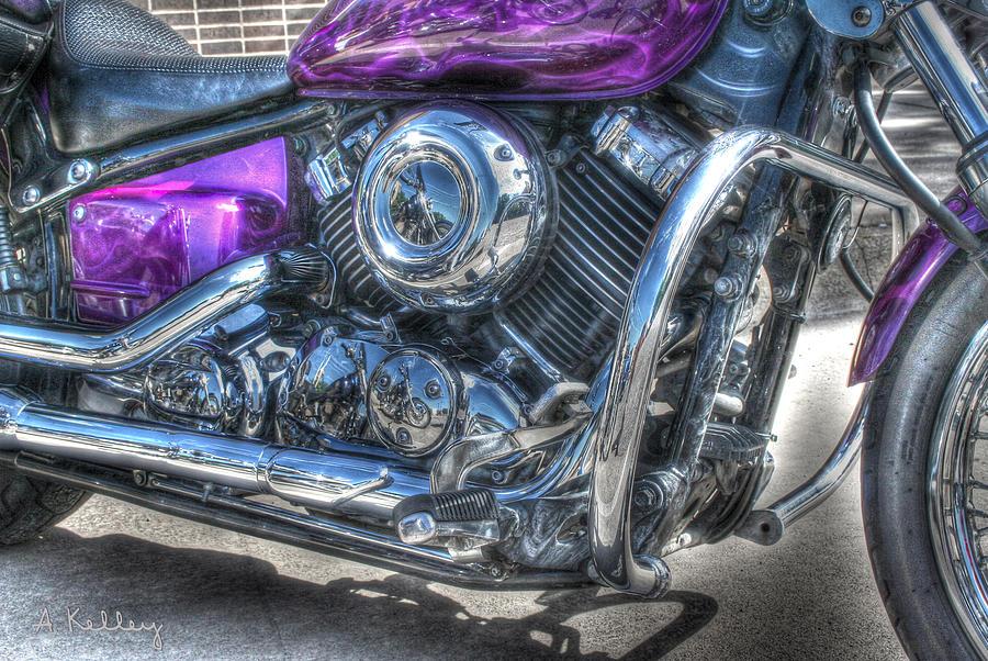 Yamaha Photograph - Yamaha V Star by Andrea Kelley