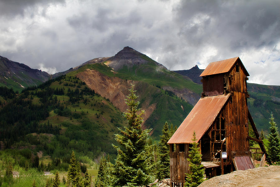Colorado Photograph - Yankee Girl Mine 2 by Lana Trussell