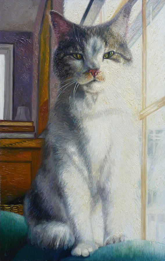Cat Painting - Yankee by Gregg Hinlicky
