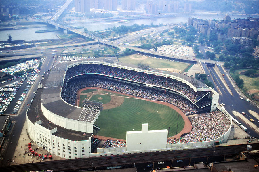 Marvin Newman Photograph - Yankee Stadium Aerial by Retro Images Archive