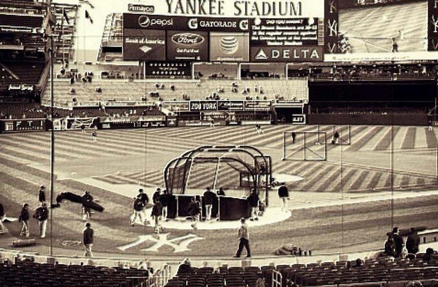 Yankee Mixed Media - Yankee Stadium by CD Kirven