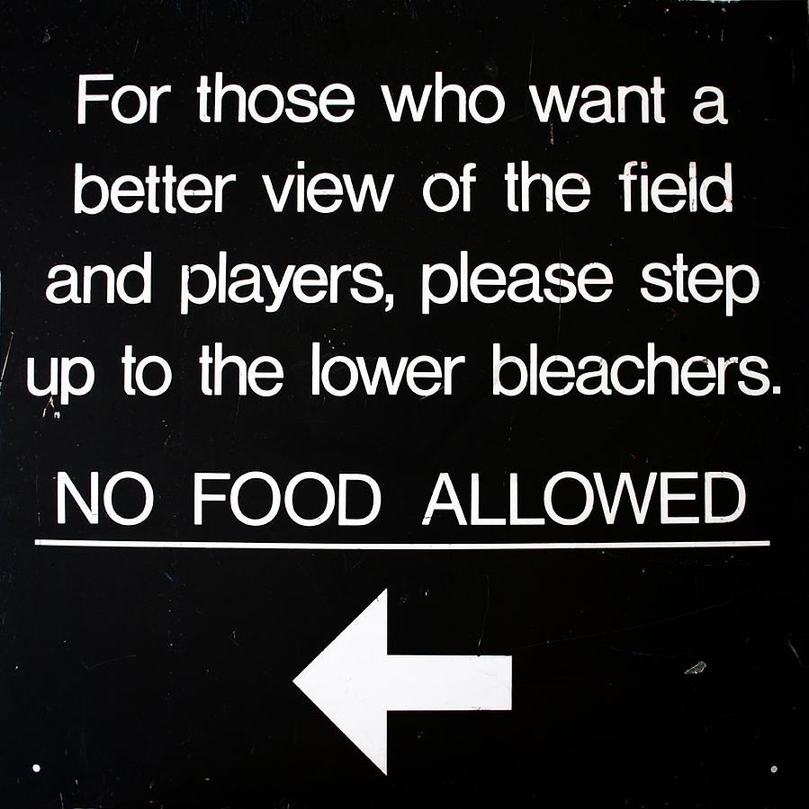 Yankee Photograph - Yankee Stadium Lower Bleachers Sign by Bill Cannon