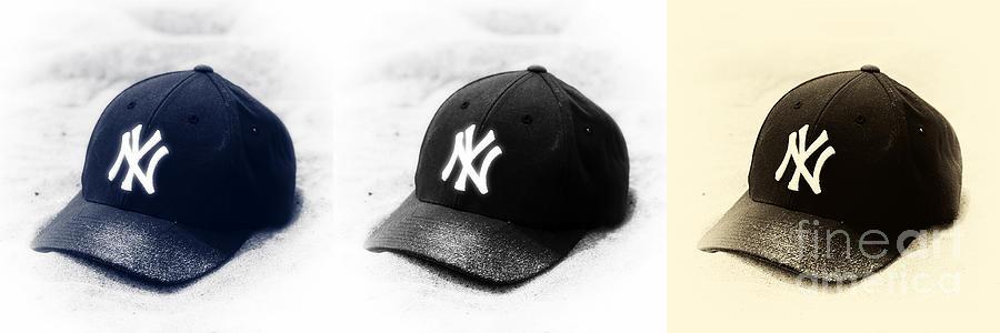 Yankee Cap Photograph - Yankees by John Rizzuto