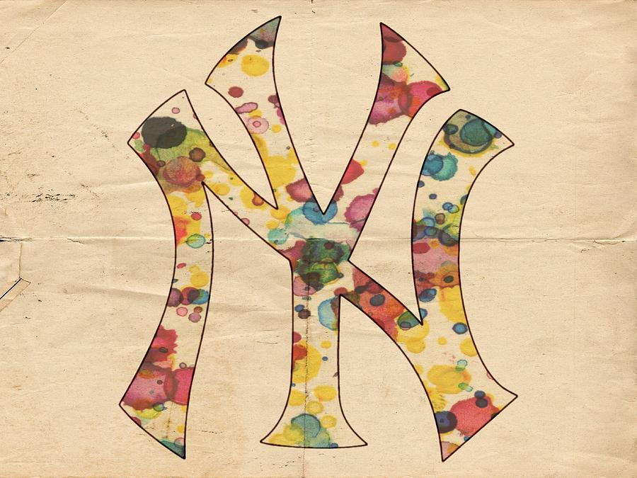 Yankees Vintage Art Painting by Florian Rodarte