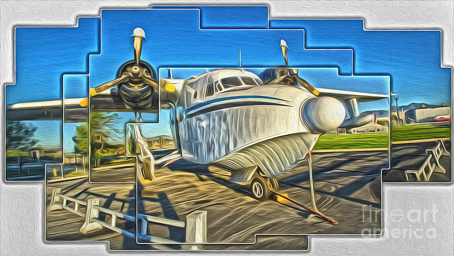 Sea Plane Painting - Yanks Air Museum by Gregory Dyer