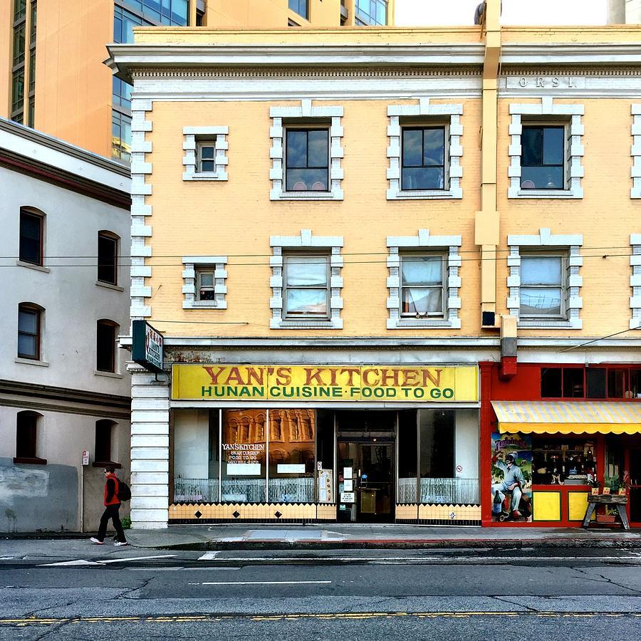 Street Scene Photograph - Yans Kitchen by Julie Gebhardt