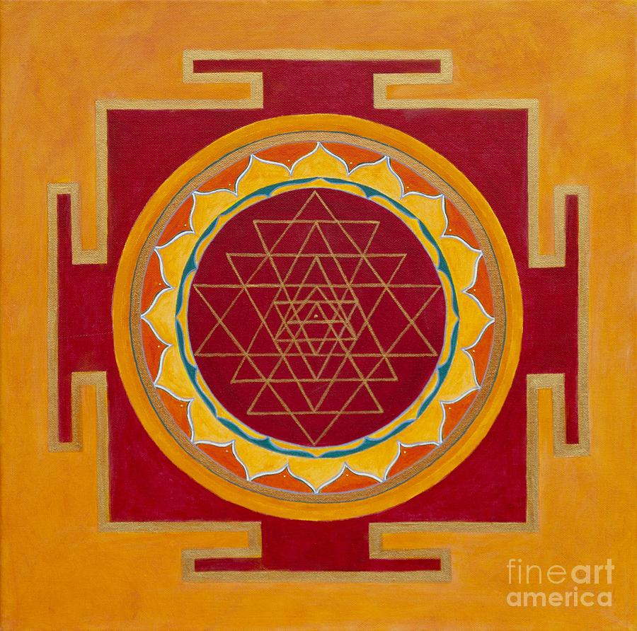 Mandala Painting - Yantra by Mayki Wiberg