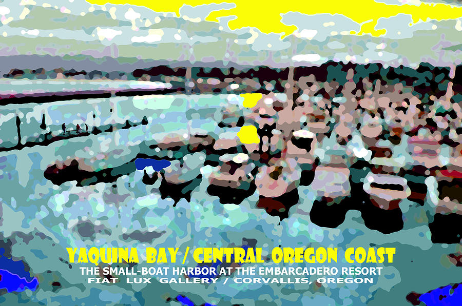 Yaquina Bay Digital Art - Yaquina Bay II by Michael Moore