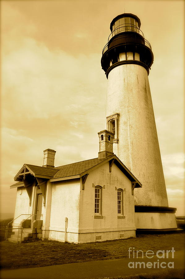 Yaquina Photograph - Yaquina Head Gone Sepia by Sheldon Blackwell