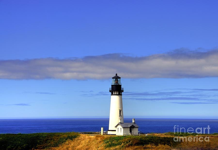 Lighthouses Photograph - Yaquina Head Light   2 by Mel Steinhauer