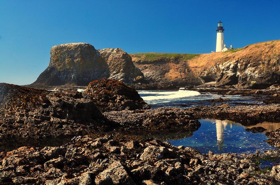 Landscape Photograph - Yaquina Head Lighthouse by Ken Reece