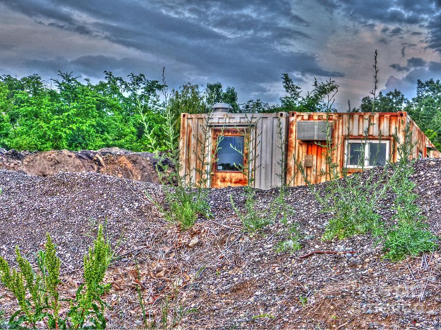 Michigan Photograph - Yard Office Shack by MJ Olsen