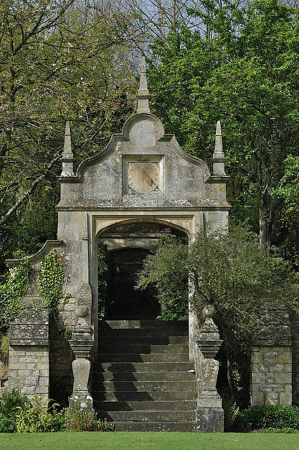 Arch Photograph - Yarnton Sundial by Joseph Yarbrough