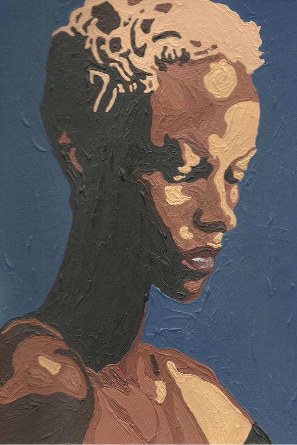 Yasmin Warsame Painting - Yasmin Warsame by Rachel Natalie Rawlins