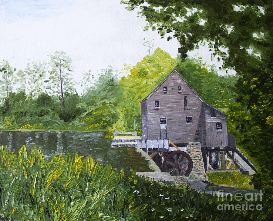 Yates Mill Painting - Yates Mill Summer by Kevin Croitz